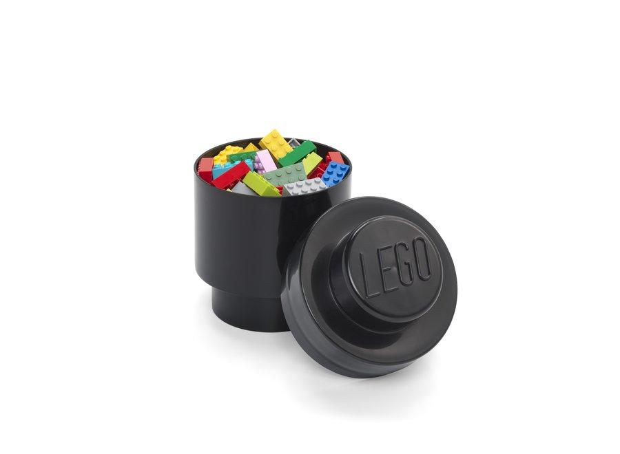 Opbergbox Brick 1 Rond Zwart
