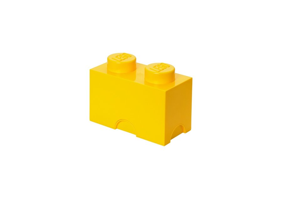 Opbergbox Brick 2 Geel