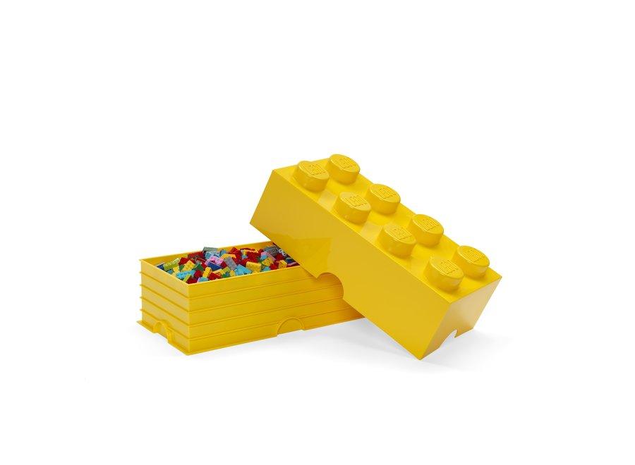 Opbergbox Brick 8 Classic Geel 12L