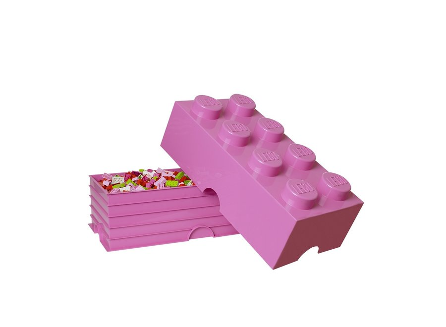 Opbergbox Brick 8 Roze 12L