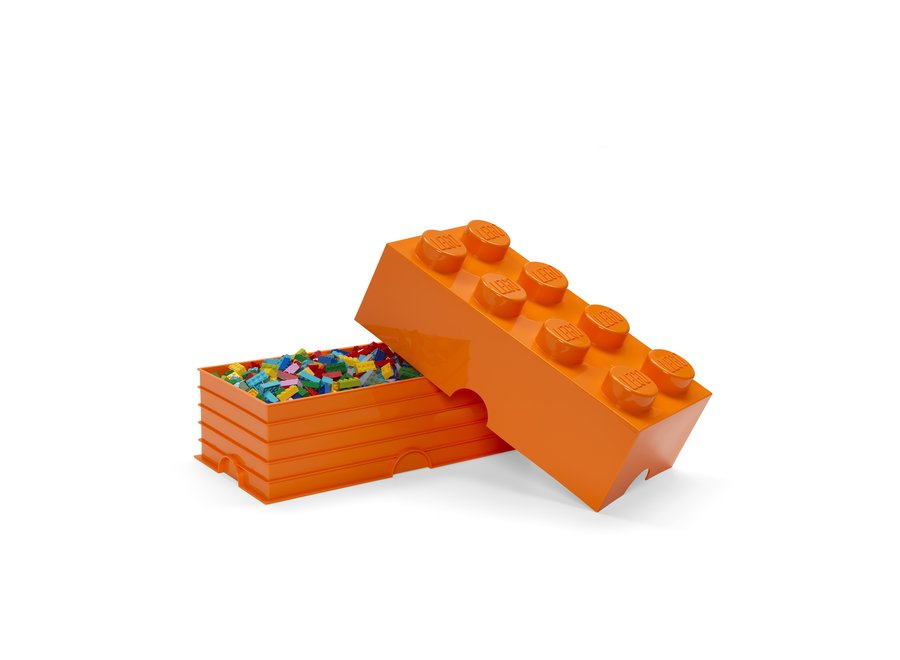 Opbergbox Brick 8 Oranje 12L