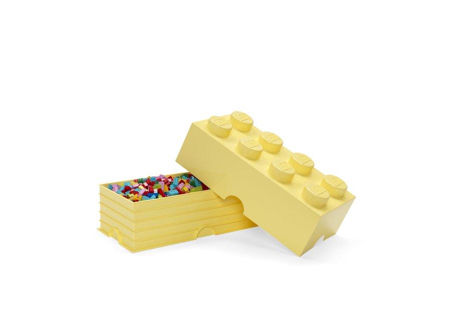 Opbergbox Brick 8 Cool Geel 12L