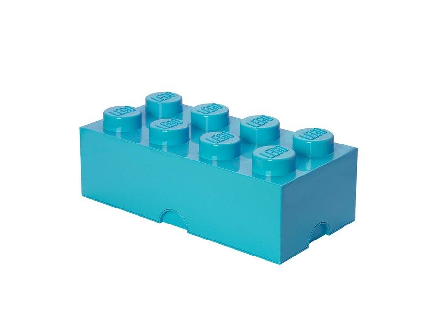 Opbergbox Brick 8 Azur Blauw 12L