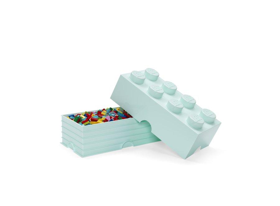 Opbergbox Brick 8 Aqua Blauw 12L
