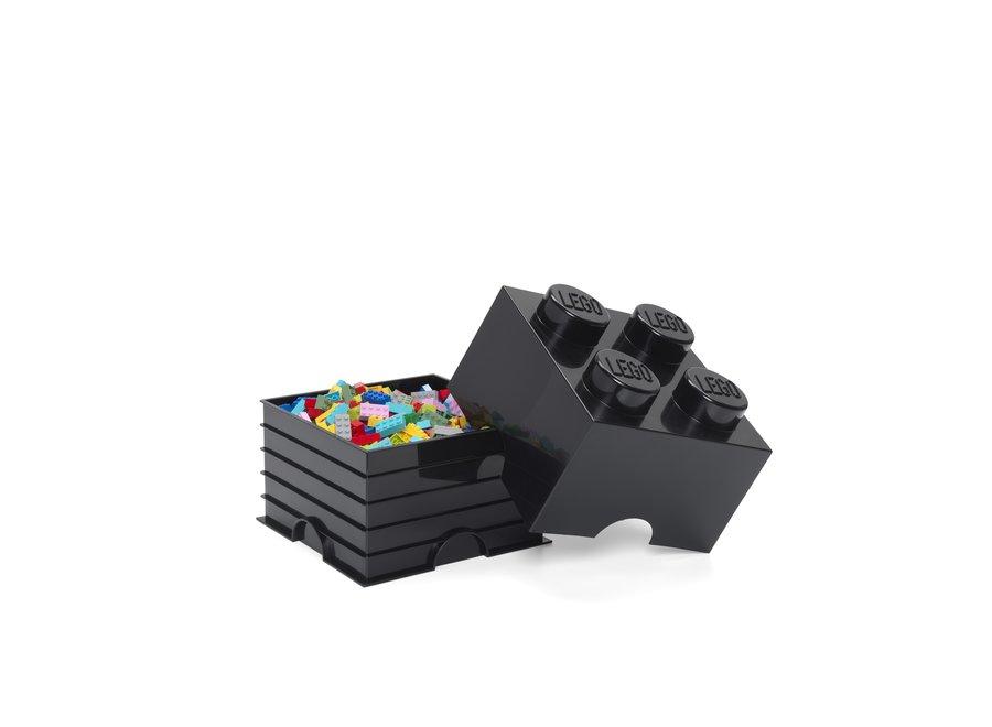 Opbergbox Brick 4 Zwart 6L