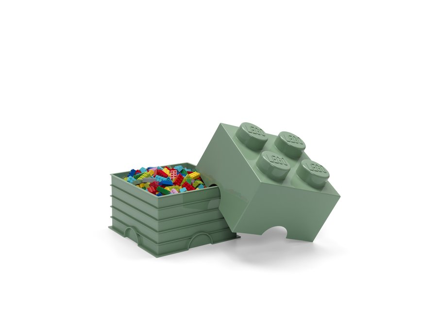 Opbergbox Brick 4 Zand Groen 6L