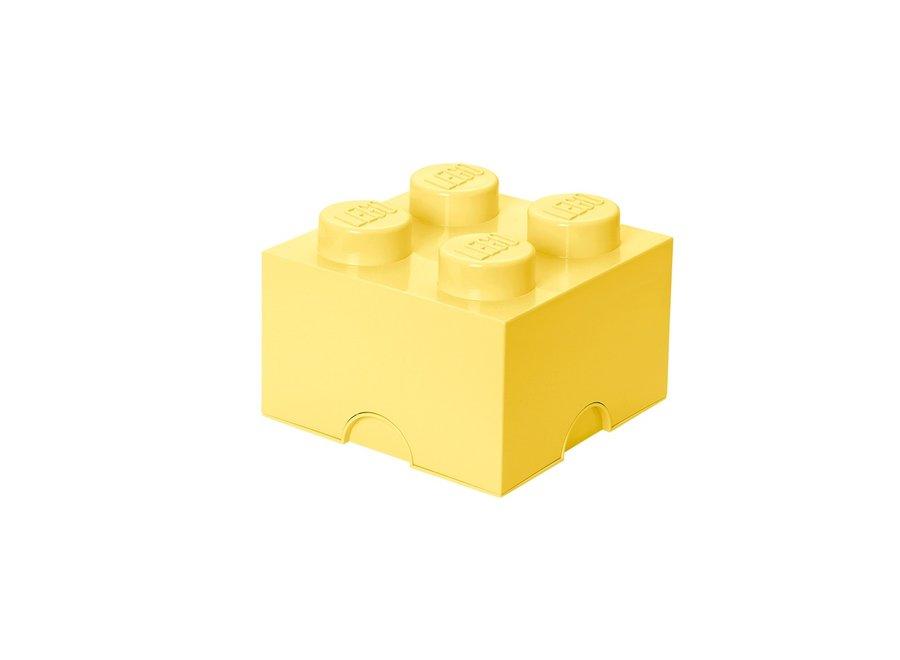 Opbergbox Brick 4 Cool Geel 6L