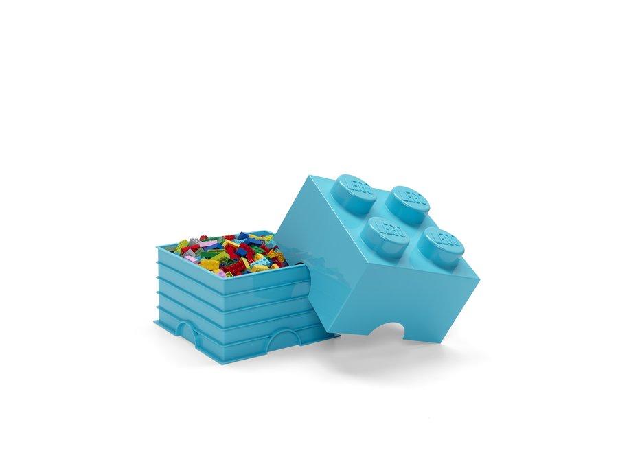 Opbergbox Brick 4 Azur Blauw 6L
