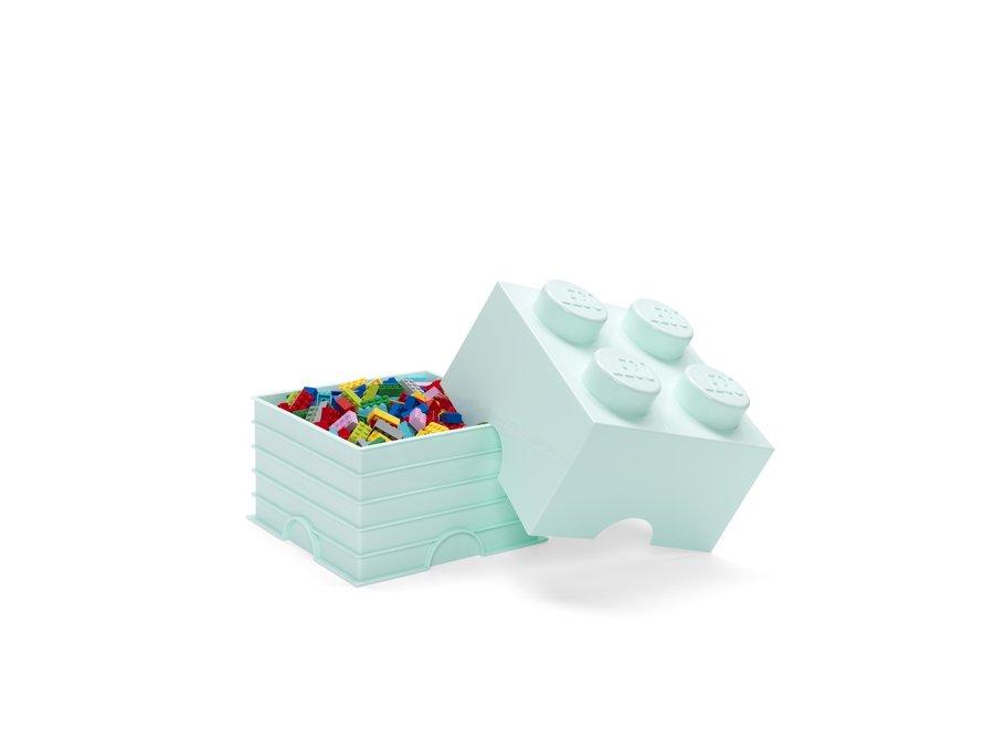 Opbergbox Brick 4 Aqua Blauw 6L