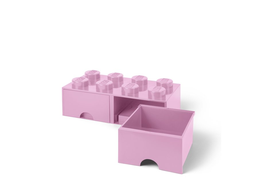 Brick 8 Opbergbox 2 Lades Roze