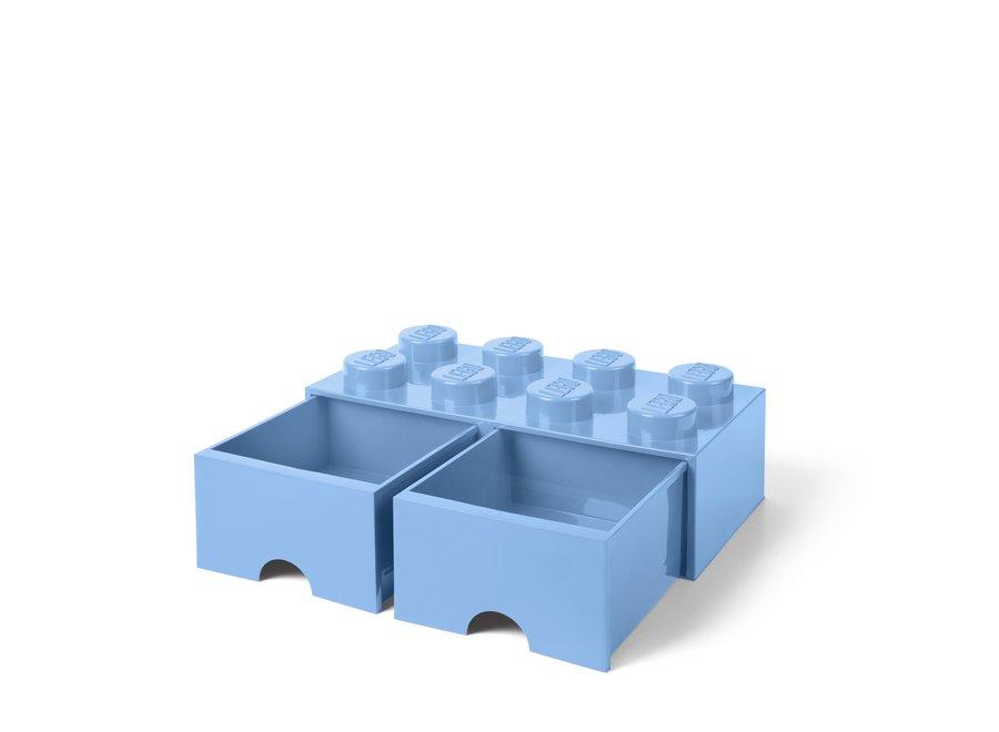 Brick 8 Opbergbox 2 Lades Blauw