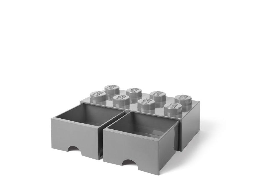 Brick 8 Opbergbox 2 Lades Grijs