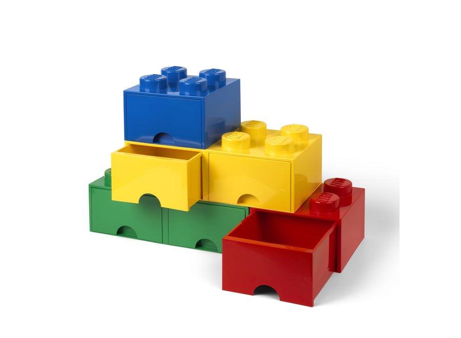 Brick 8 Opbergbox 2 Lades Geel
