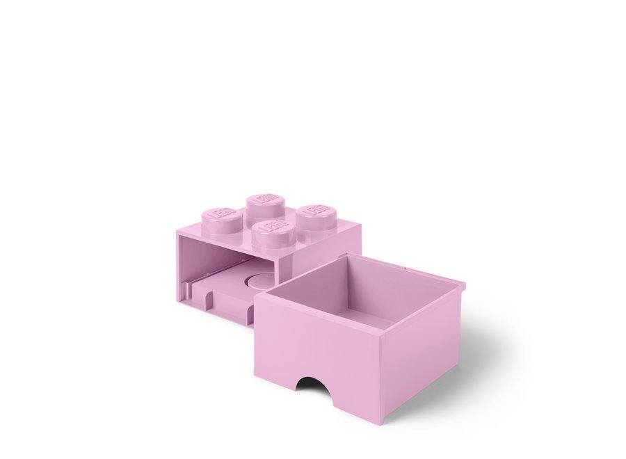 Brick 4 Opbergbox Lade Roze