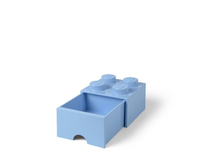 Brick 4 Opbergbox Lade Licht Blauw