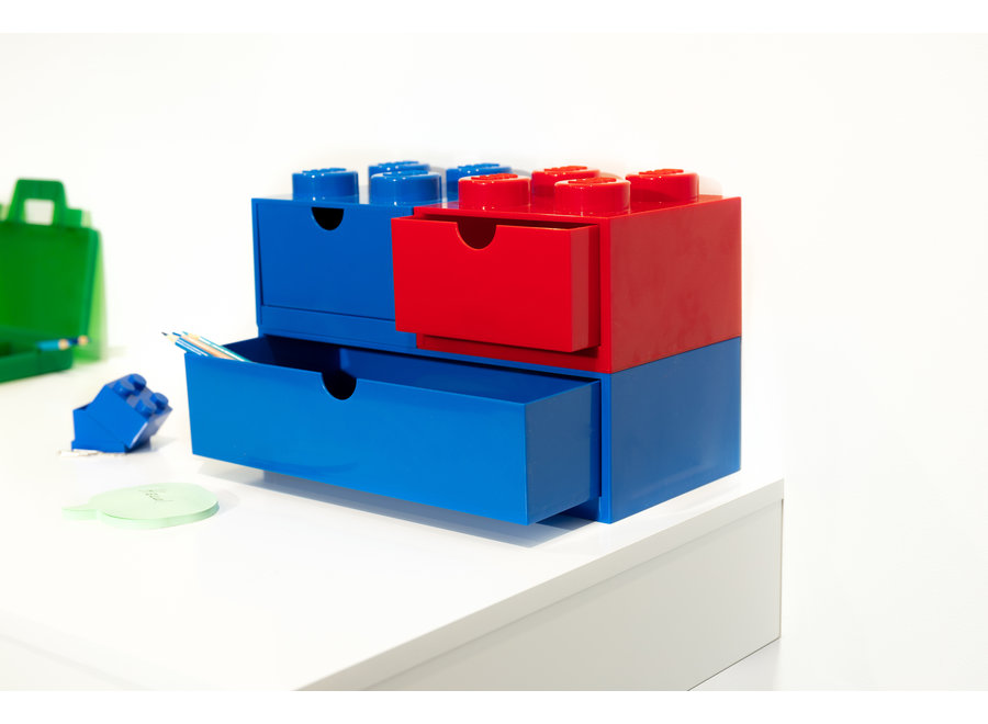 Brick 4 Opbergbox Lade Blauw