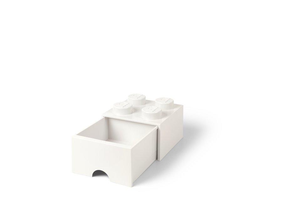 Brick 4 Opbergbox Lade Wit