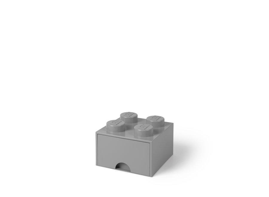 Brick 4 Opbergbox Lade Medium Stone Grey