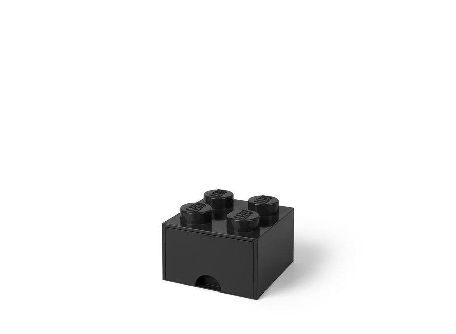 Brick 4 Opbergbox Lade Zwart