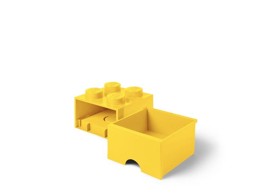 Brick 4 Opbergbox Lade Geel