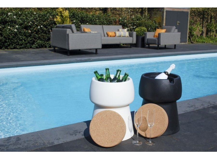 CHAMP Coolstool Wijnkoeler & Kruk Zwart
