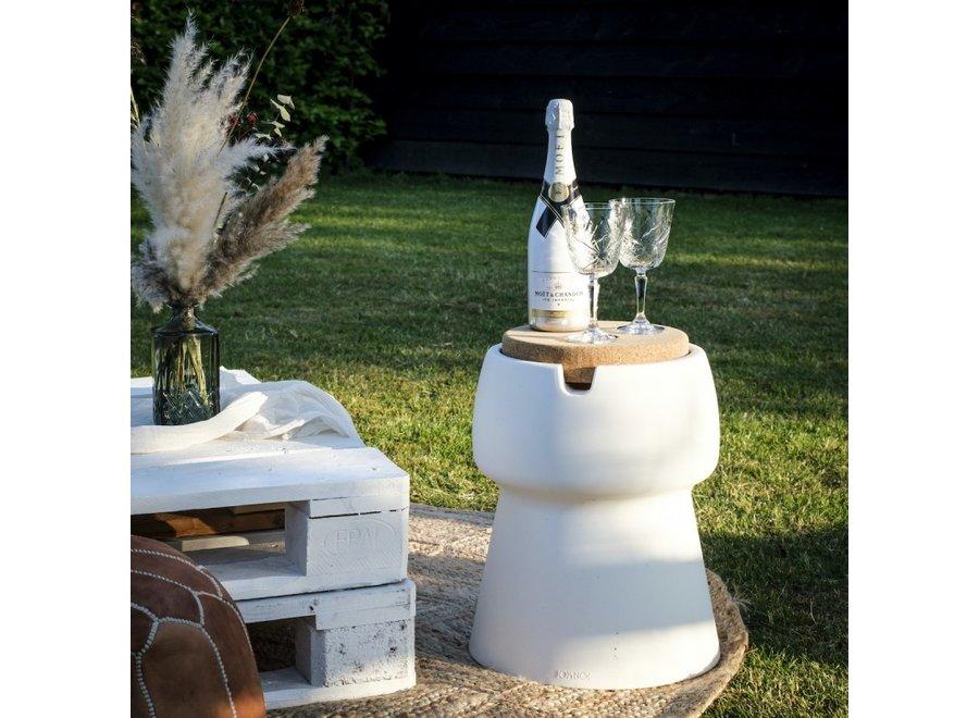 CHAMP Coolstool Wijnkoeler & Kruk Wit