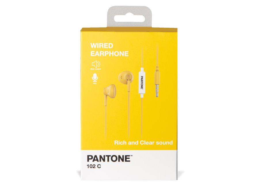 Pantone Wired Koptelefoon Geel