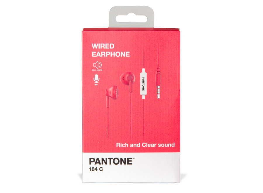 Pantone Wired Koptelefoon Roze