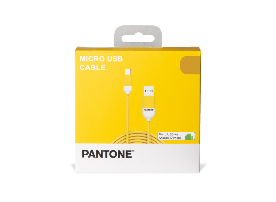 Pantone Micro USB Kabel Geel