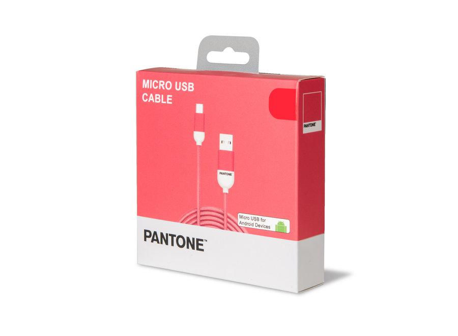 Pantone Micro USB Kabel Roze
