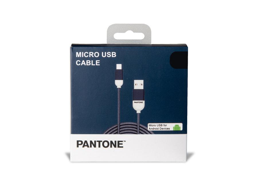 Pantone Micro USB Kabel Blauw