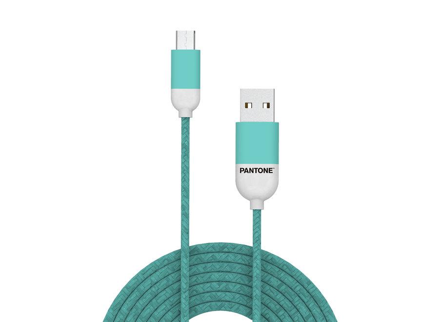 Pantone Micro USB Kabel Groen