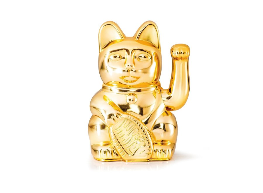Lucky Cat Glossy Goud