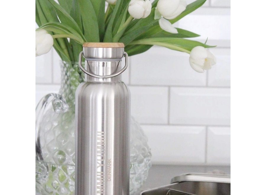 Thermofles – 1000 ml - Stainless Steel – Bamboo
