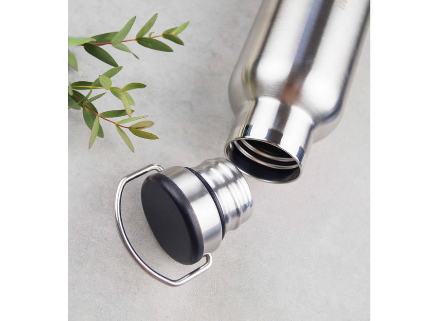 Thermofles – 1000 ml - Stainless Steel – Zwart