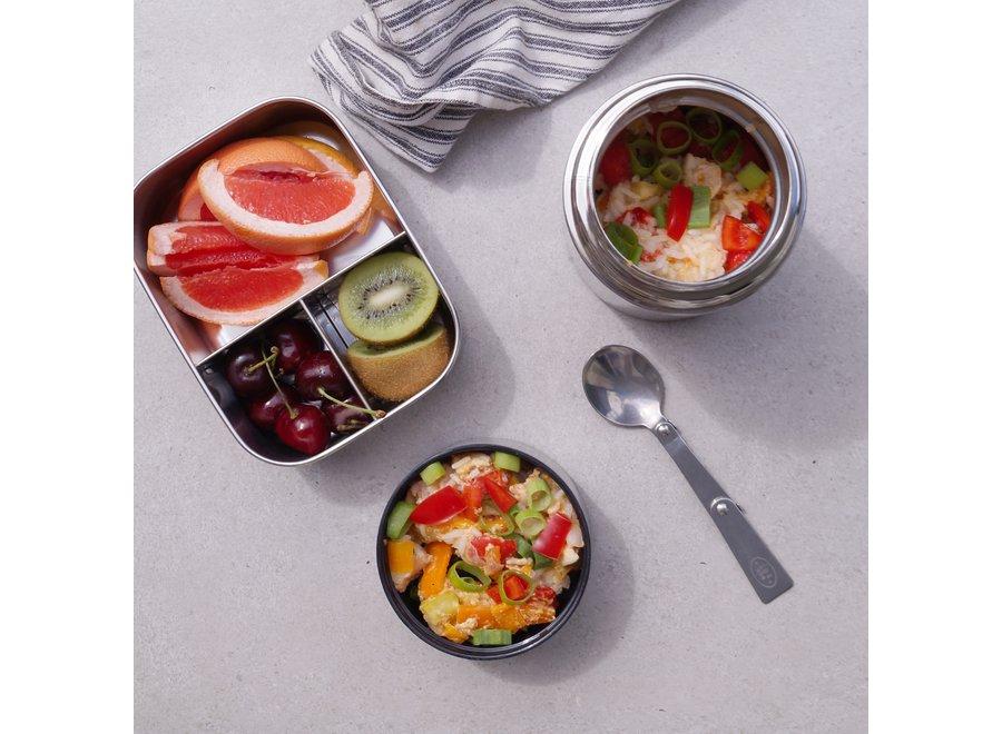 Thermo Lunchbox Zwart medium