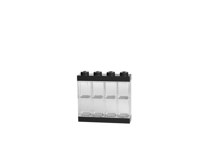 Minifiguur 8 Display Case Zwart