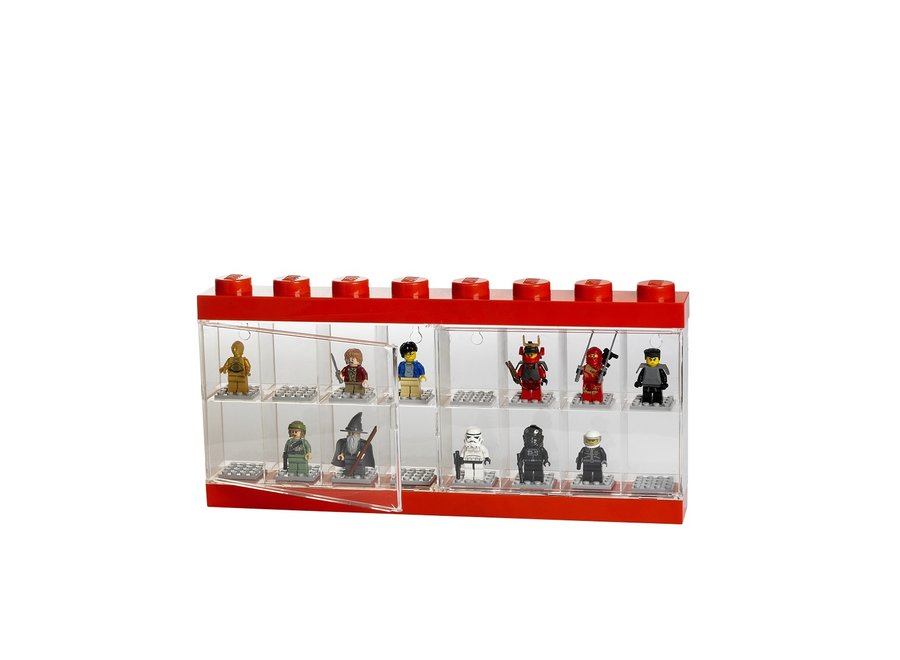 Minifiguur 16 Display Case Rood