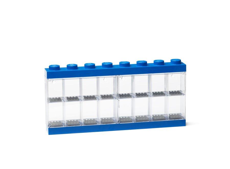 Minifiguur 16 Display Case Blauw