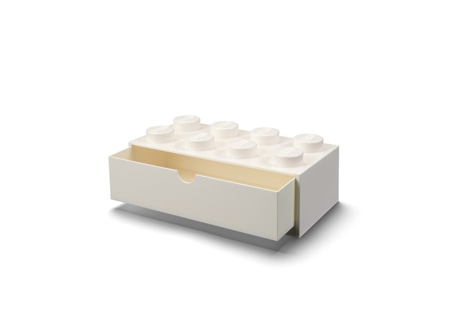 Bureaulade Brick 8 Opberger Wit