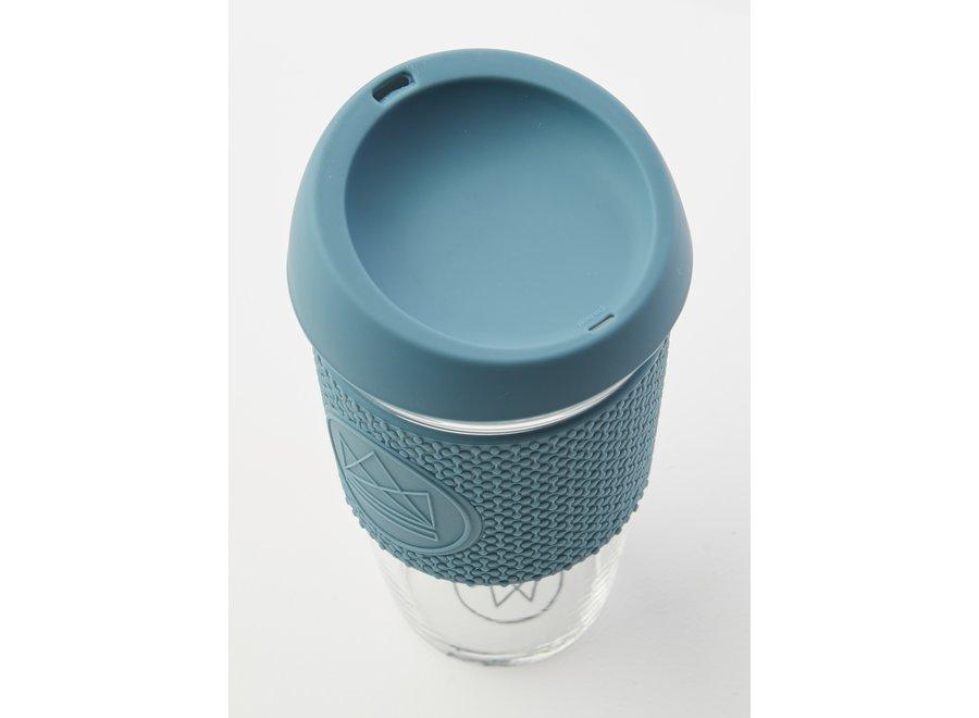 Glas  450ml Blauw Super Sonic