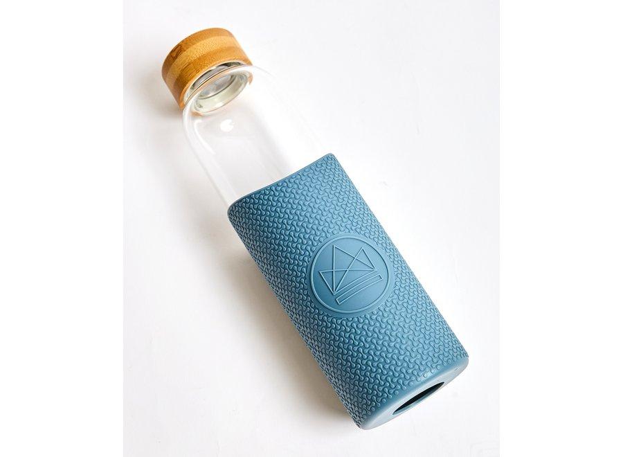Glazen Drinkfles Super Sonic - Blauw
