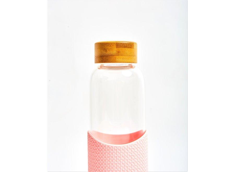 Glazen Drinkfles Pink Flamingo - Roze