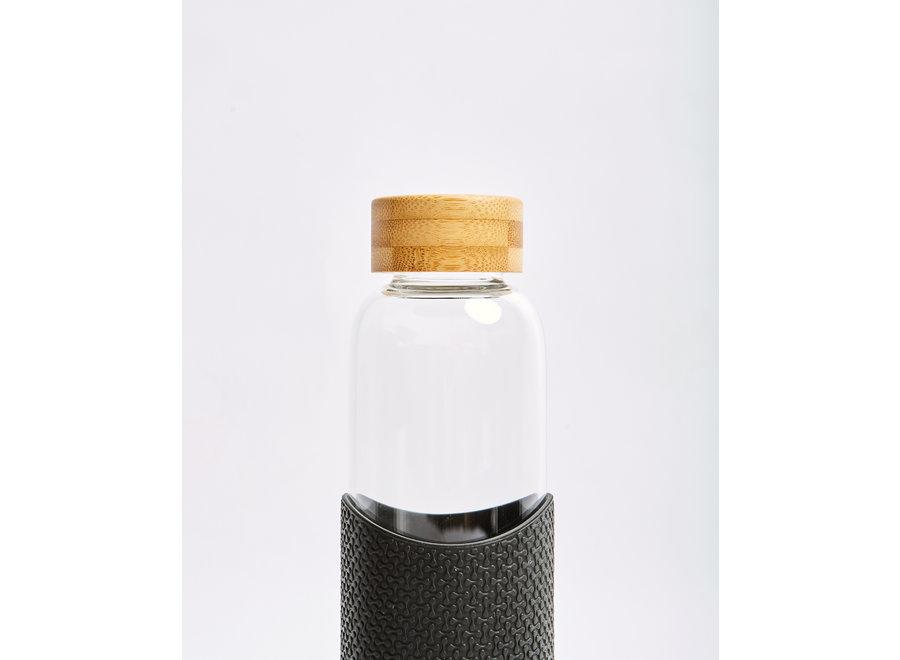 Glazen Drinkfles Rock Star - Zwart