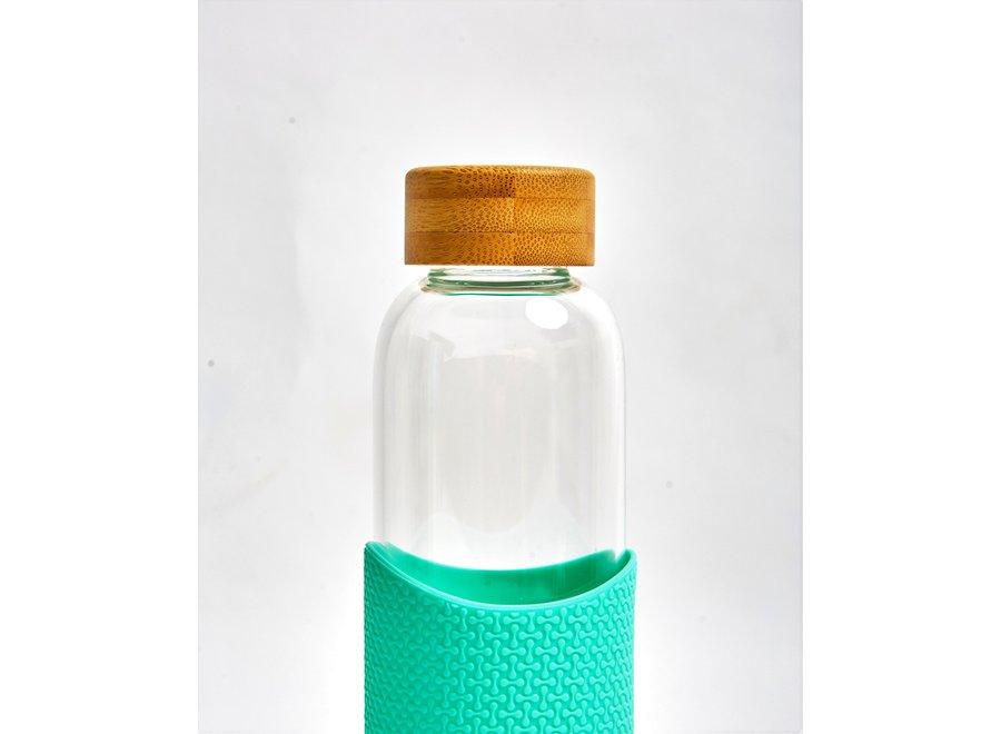 Glazen Drinkfles Free Spirit - Mint Groen