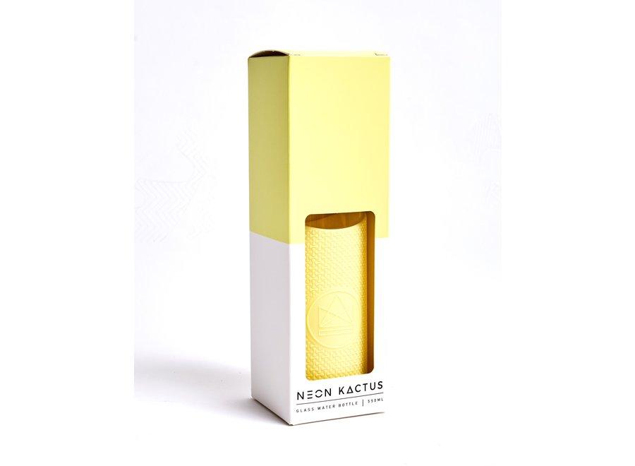 Glazen Drinkfles Sun Is Shining - Geel