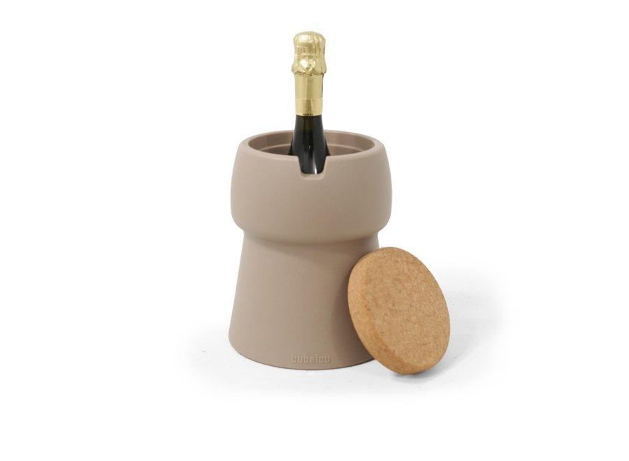 CHAMP 1 Bottle Cooler Wijnkoeler Taupe