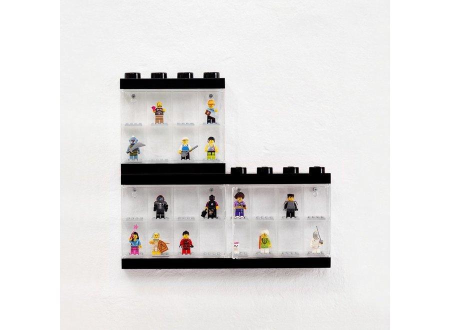 Minifiguur 16 Display Case Zwart