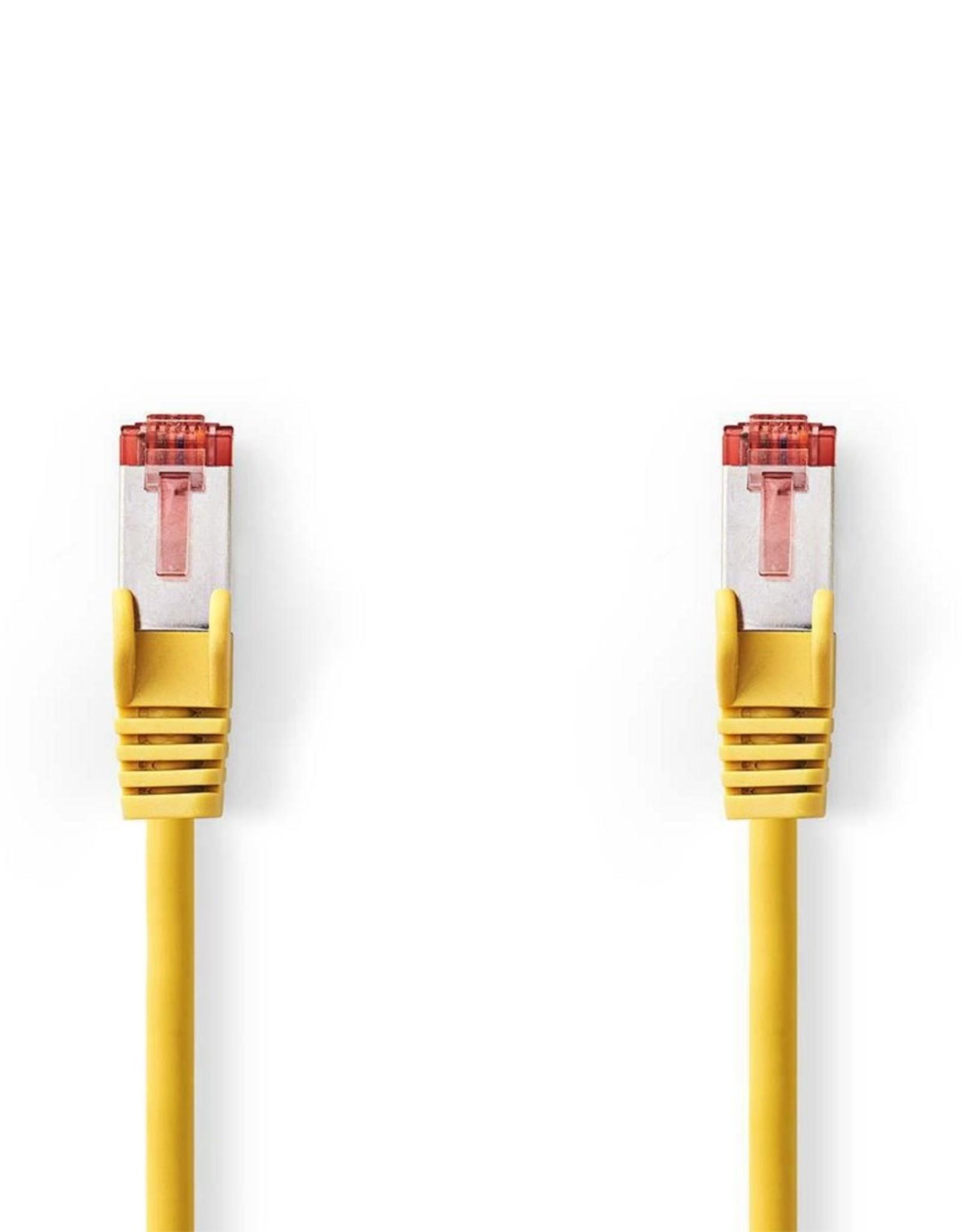 CAT6 S/FTP-netwerkkabel/RJ45 3m Geel