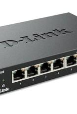 D-Link DGS-108 8-Port 10/100/1000 Desktop Switch Black